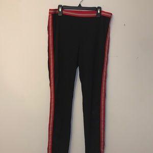 Hue striped leggings. Size: L